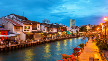 The-old-town-of-Malacca,-a-UNESCO-World-Heritage-Site-in-Malaysia